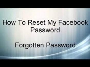 how to reset my facebook password