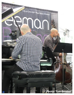 Tom Vaitsas - Piano, Christian Dillingham - Bass at the Von Freeman Pavilion of the 2017 Chicago Jazz Festival | Photograph by Tom Bowser