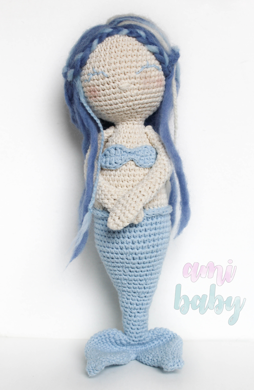 Amigurumi,sirena, peluche regalo ideal para niñas.Amigurumi,Mermaid ...
