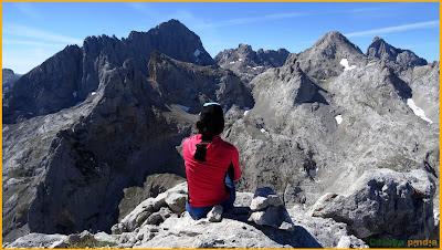 Desde lo alto de la Robliza en Picos de Europa