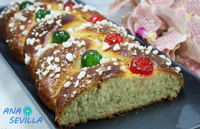 Trenza de pan dulce para Semana Santa