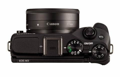 Canon EOS M3 mirrorless DSLR Top View