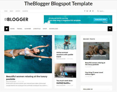 The blogger Blogspot Template
