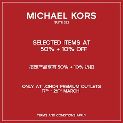 Johor Premium Outlets JPO Michael Kors Special Sale Discount Offer