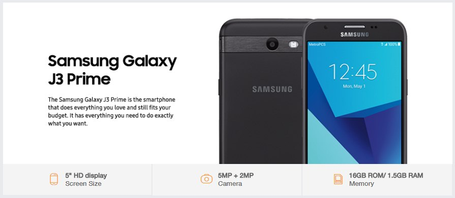 Download stock firmware (J327T1UVU1AQCB) Galaxy J3 Prime SM-J327T1 MetroPCS