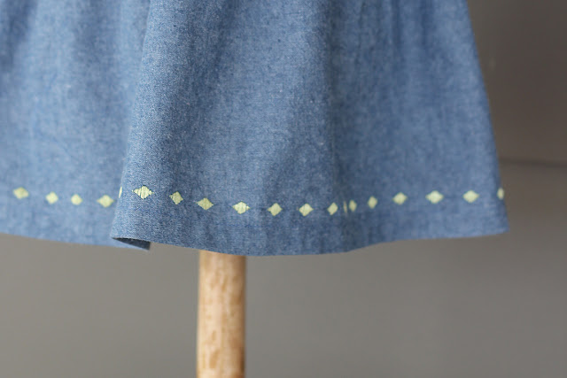 Dress for baby girl with Pfaff Creative Icon Floating Stitches