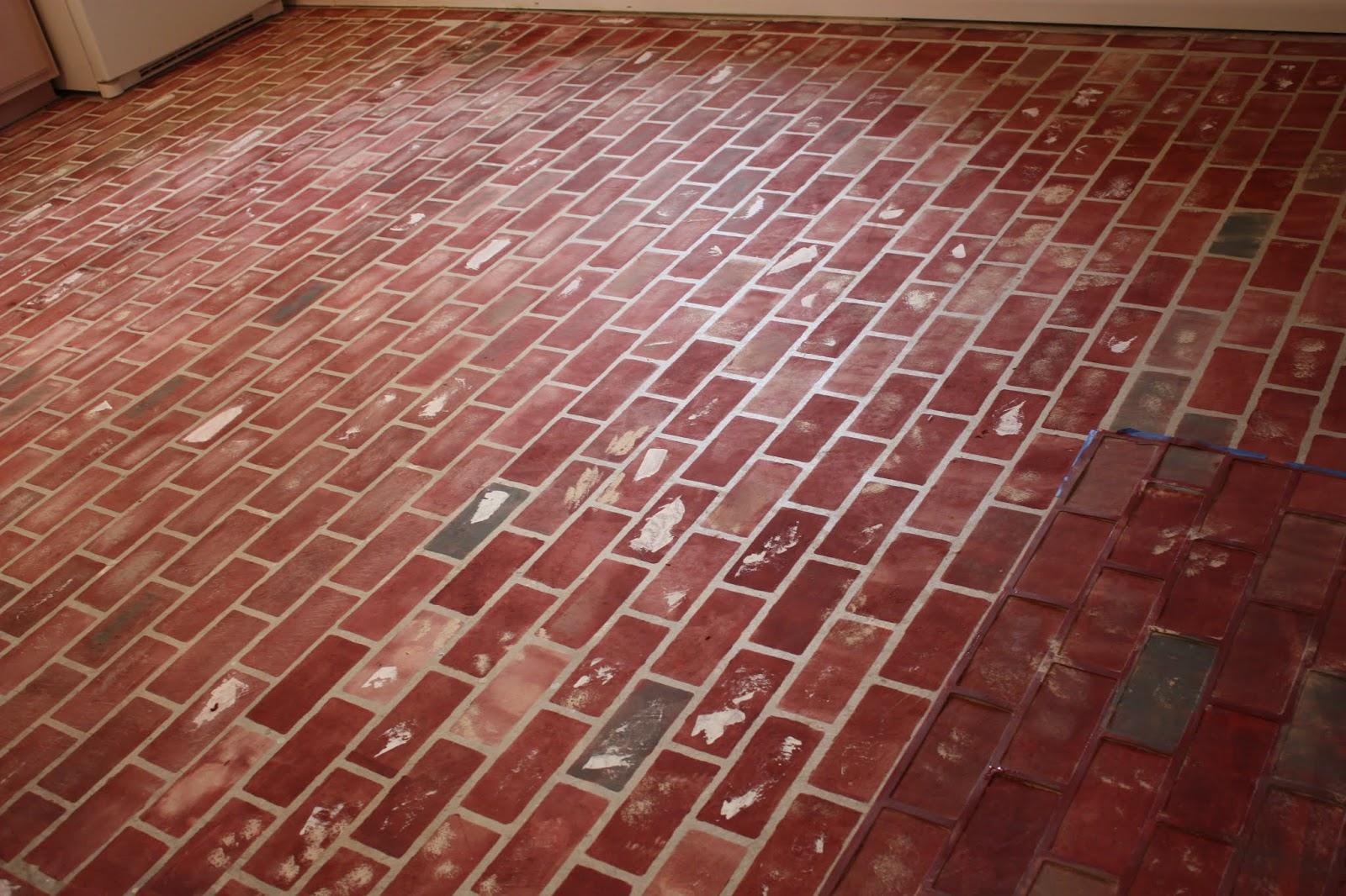 Pen Hive How To Paint A Faux Brick Floor On Concrete