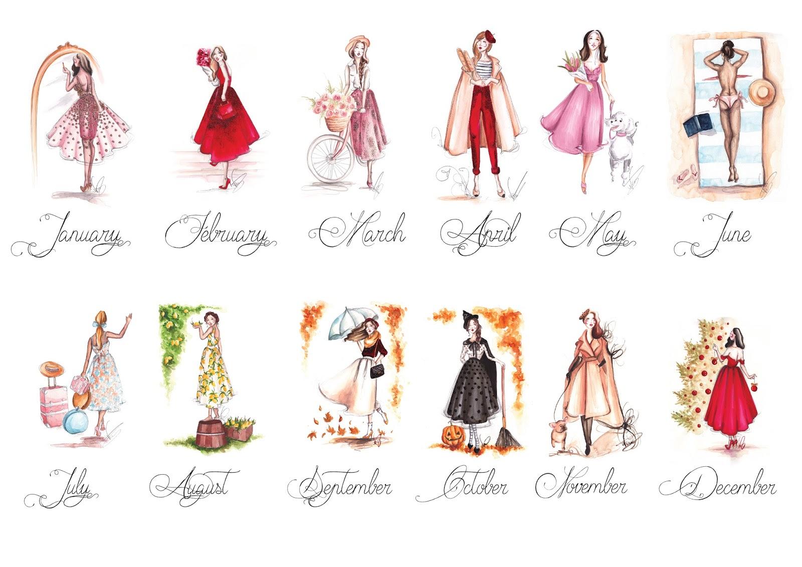 Fashion Illustration Calendar : Current project the fashion calendar dorinus