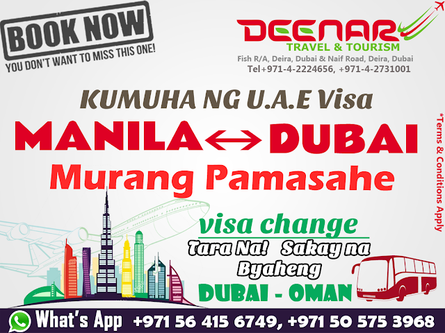 deenartravels, philippines to uae