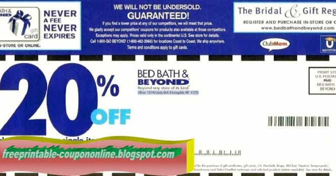Printable Coupons 2019 Bed Bath And Beyond Coupons