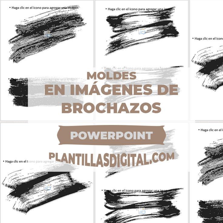 moldes en imagen de brochazos para powerpoint