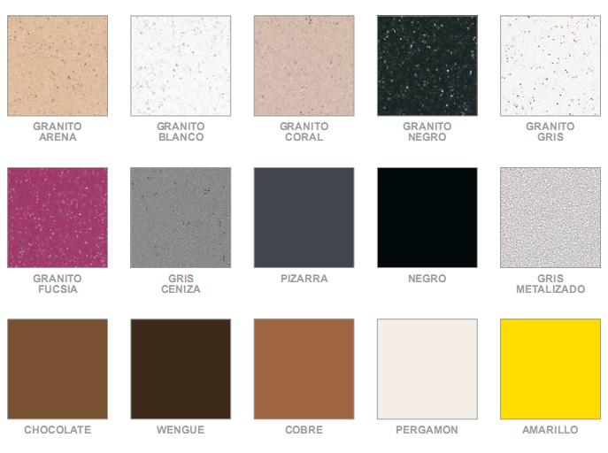 Colores de encimeras de granito fabulous oferta granito for Colores de granito negro