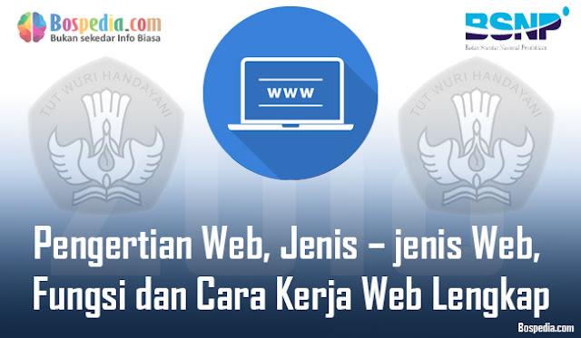 hal pertama yang timbul di benak penulis ialah dunia internet Pengertian Web, Jenis – jenis Web, Fungsi dan Cara Kerja Web Lengkap