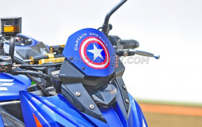 Kawasaki Z800 Ala Civil War Captain America