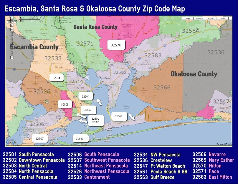 Sw Florida Zip Code Map.Love To Live In Pensacola Florida 2018