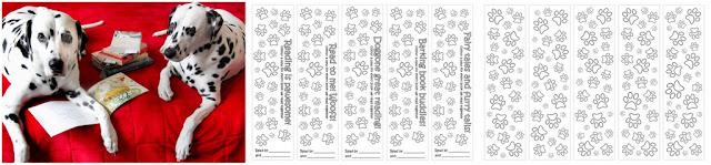 DIY pawprint bookmarks