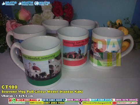 Souvenir Mug Full Colour Model Standar Kaki