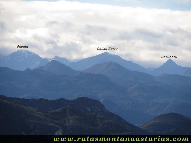 Vista del Collau Zorru desde el Benzúa