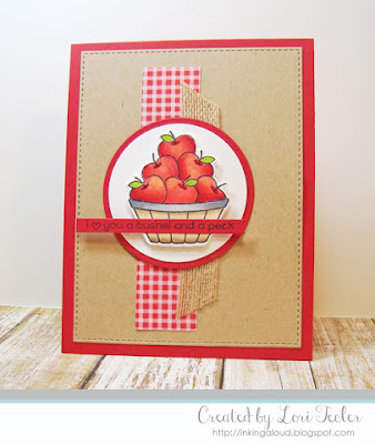 A Bushel and a Peck card-designed by Lori Tecler/Inking Aloud-stamps from Lawn Fawn