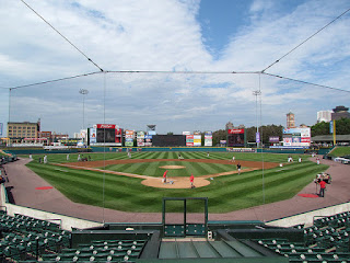 Home to center, Frontier Field