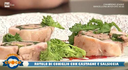 Rotolo di coniglio con castagne e salsiccia ricetta Marco Bottega da Prova del Cuoco