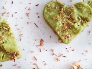Coeurs glacés végan au thé vert Matcha - Les Jardins de Ga