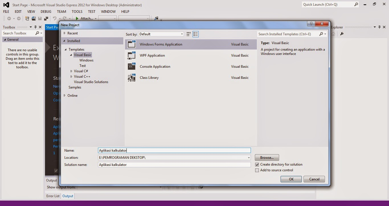 3 - Tutorial Menciptakan Kalkulator Dengan Visual Studio 2012
