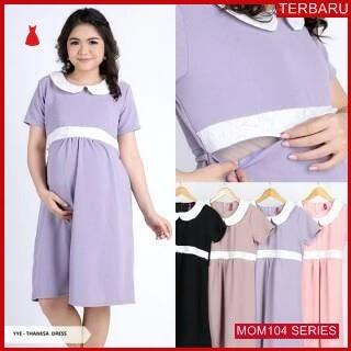 MOM104D13 Dress Hamil Menyusui Cantik Brokat Dresshamil Ibu Hamil
