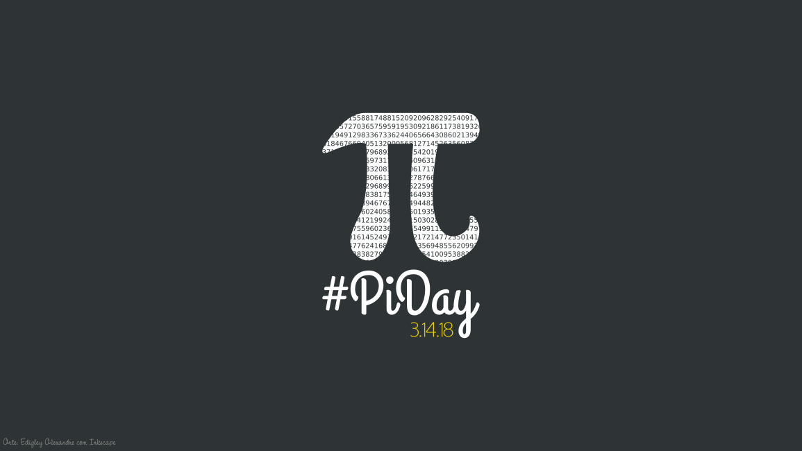 Wallpaper matemático 19: Pi Day 2018