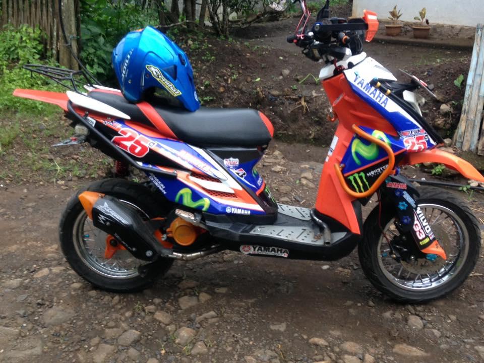 30 Gambar Modifikasi X Ride Ala Supermoto Paling Tangguh