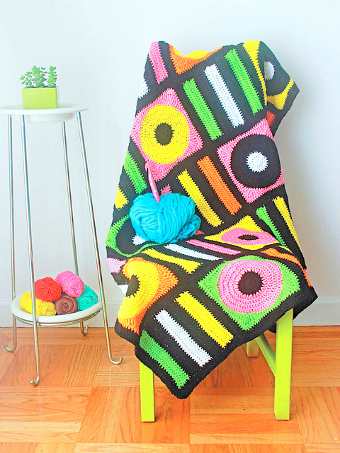 Licorice Allsorts Afghan crochet pattern