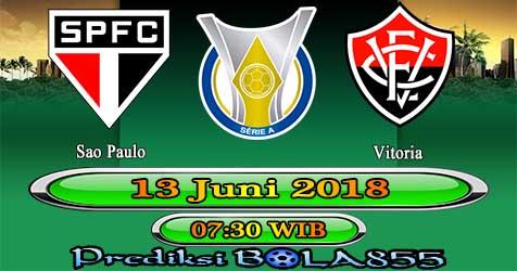 Prediksi Bola855 Sao Paulo vs Vitoria 13 Juni 2018