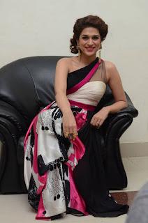 Actress Shraddha Das Latest Stills in Stylish Dress at tur Talkies Audio Launch  0034.jpg