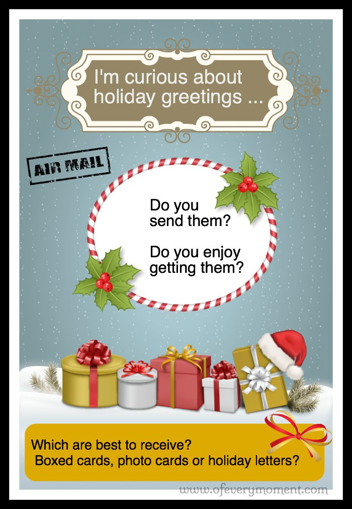 Questions about holiday greetings and letters