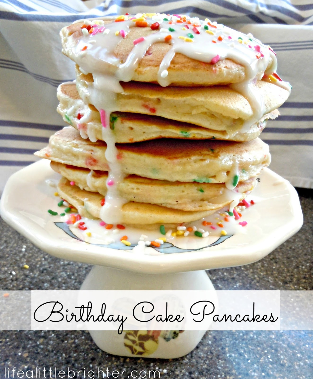 Life A Little Brighter Birthday Cake Pancakes