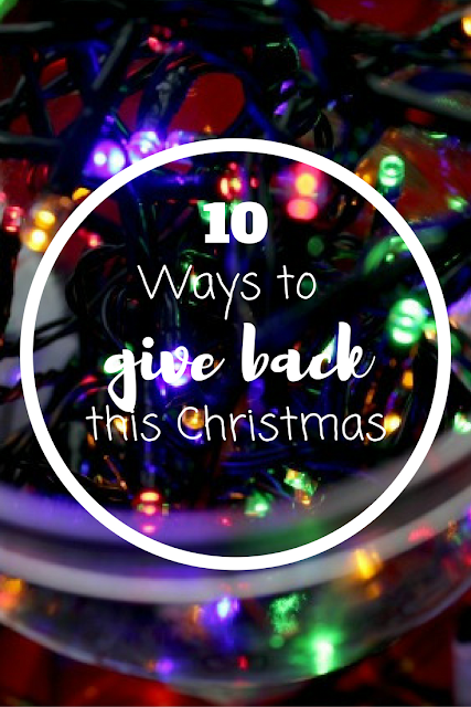 10 Ways to Give Back this Christmas. Nourish ME: www.nourishmeblog.co.uk