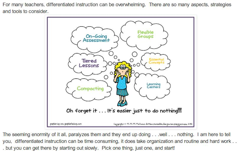does differentiated instruction work