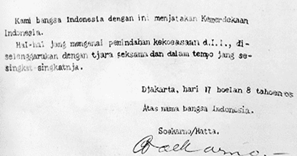 Teks Proklamasi Kemerdekaan Indonesia 17 Agustus 1945 Sejarah Cirebon