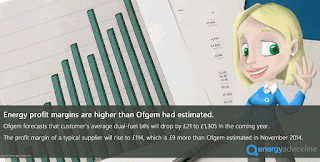Energy profit margins higher than Ofgem had estimated