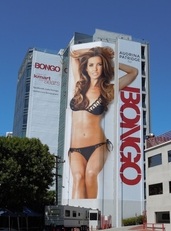 Audrina Patridge Bongo bikini billboard Sunset Strip