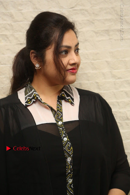 Tamil Actress Meena Latest Stills in Black Dress at TSR TV9 Awards Press Meet  0001.JPG