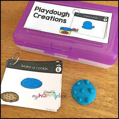 Free Playdough Task Cards and Labels
