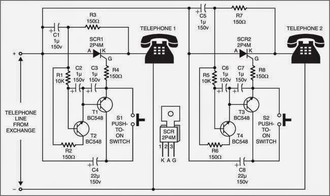Telephone Handset Wiring Diagram, Telephone, Free Download