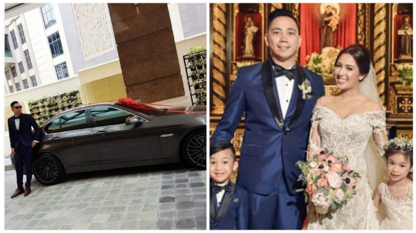 Why did Karel Marquez give husband BMW on wedding day?