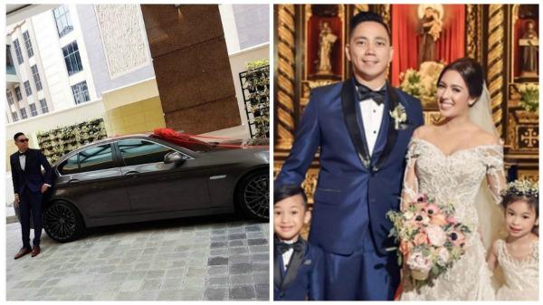 Why did Karel Marquez give husband BMW on wedding day?