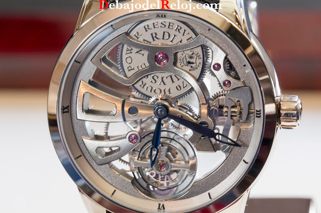 ULysse Nardin Executive Skeleton Tourbillon Manufacture dial