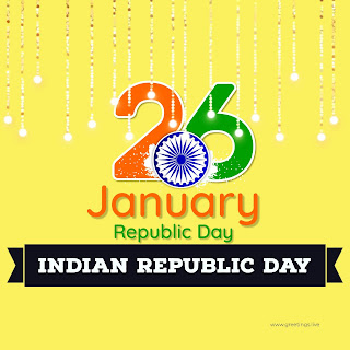India Republic day Greetings collection image with 26 January republic day