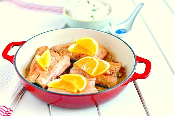 Honey Orange Soy Glazed Salmon