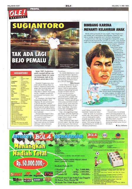 PROFIL BEJO SUGIANTORO BINTANG SEPAKBOLA INDONESIA