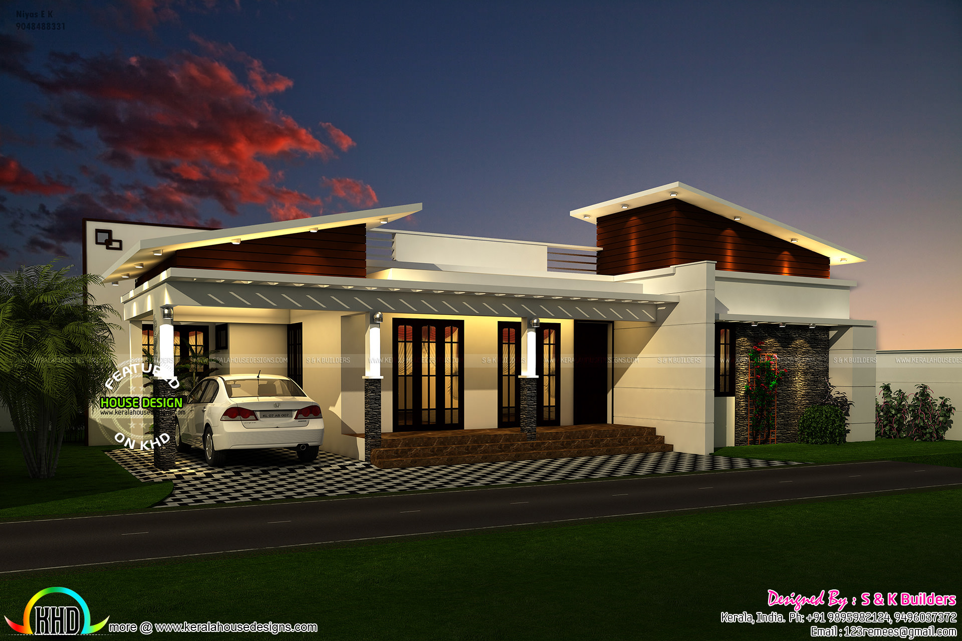 Contemporary Look Single Floor 1200 Sq Ft Kerala Home